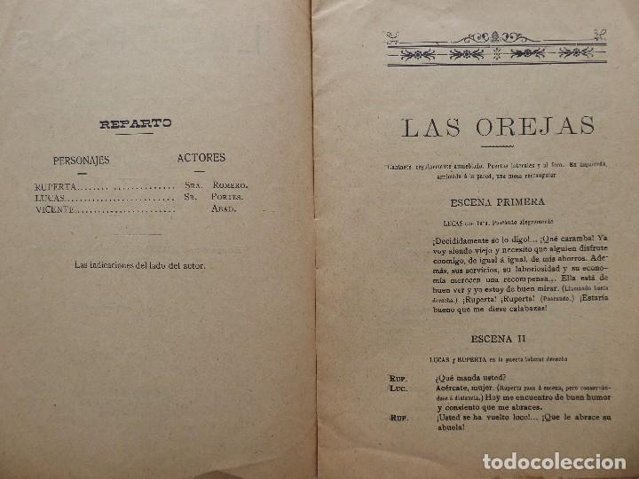 Libros antiguos: PR-2132.LAS OREJAS. ENTREMÉS CÓMICO.JOSÉ QUILIS PASTOR. SDAD. DE AUTORES ESPAÑOLES. MADRID. AÑO 1909 - Foto 4 - 213750755