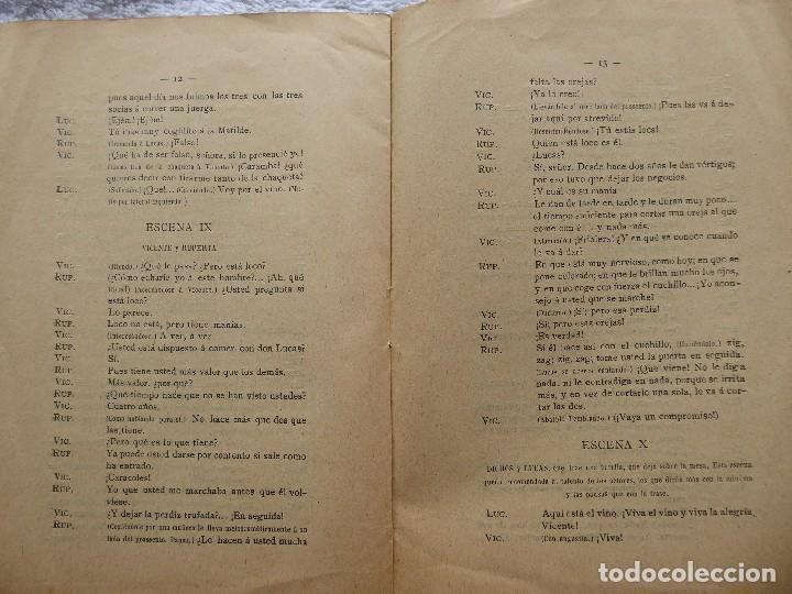 Libros antiguos: PR-2132.LAS OREJAS. ENTREMÉS CÓMICO.JOSÉ QUILIS PASTOR. SDAD. DE AUTORES ESPAÑOLES. MADRID. AÑO 1909 - Foto 5 - 213750755