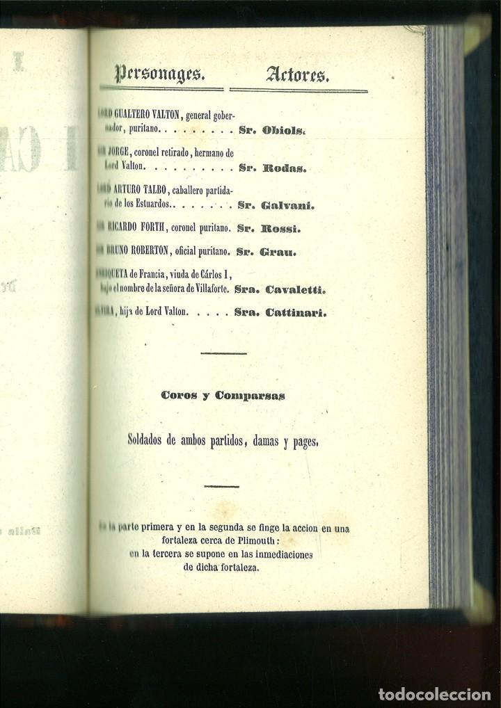 Libros antiguos: LA SOMNÁMBULA. MELODRAMA EN DOS ACTOS. Música del Maestro Vicente Bellini. - Foto 8 - 214004960