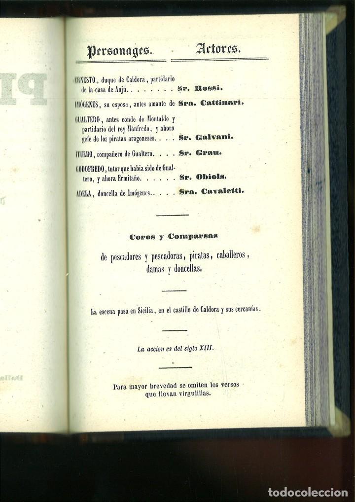 Libros antiguos: LA SOMNÁMBULA. MELODRAMA EN DOS ACTOS. Música del Maestro Vicente Bellini. - Foto 9 - 214004960