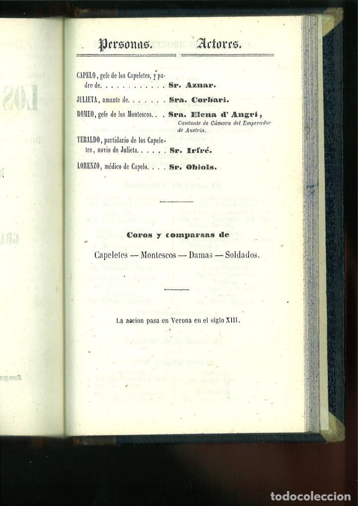 Libros antiguos: LA SOMNÁMBULA. MELODRAMA EN DOS ACTOS. Música del Maestro Vicente Bellini. - Foto 10 - 214004960