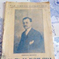 Livros antigos: TEATRE VALENSIA-¡NO HIA UN MARIT FIEL!FRANCISCO BARCHINO,1919,. Lote 219684841