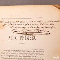 Libros antiguos: FEDERICO FREDERICH SOLER (PITARRA) : EL CERCADO AJENO - DEDICATORIA AUTÓGRAFA DEL AUTOR - 1875. Lote 221784448