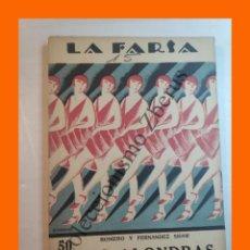 Libros antiguos: LAS ALONDRAS - COMEDIETA LIRICA EN DOS ACTOS - FEDERICO ROMERO - LA FARSA Nº 15 - 24 DICIEMBRE 1927. Lote 221954083
