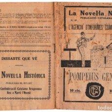 Libros antiguos: LA NOVEL.LA NOVA Nº 42 - L'AGENCIA D'INFORMES COMERCIALS - POMPEIUS GENER. Lote 222018300