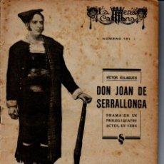 Libros antiguos: VÍCTOR BALAGUER : DON JOAN DE SERRALLONGA (ESCENA CATALANA, 1924). Lote 222095393