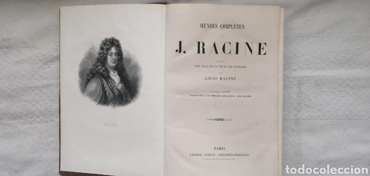 Libros antiguos: Oeuvres completes de J. Racine, précédées dun essai sur sa vie et ses ouvrages J. RACINE & Louis - Foto 2 - 224292625