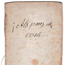 Libros antiguos: T - ALS PEUS DE VOSTÉ - PALÁ MARQUILLAS - JOGUINA CÒMICA EN UN ACTE Y EN PROSA. Lote 228094925
