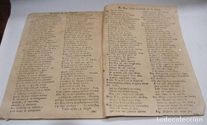 Libros antiguos: COMEDIA FAMOSA. EL JOSEPH DE LAS MUGERES. DE DON PEDRO CALDERÓN DE LA BARCA. BARCELONA, 1766 - Foto 4 - 228535700