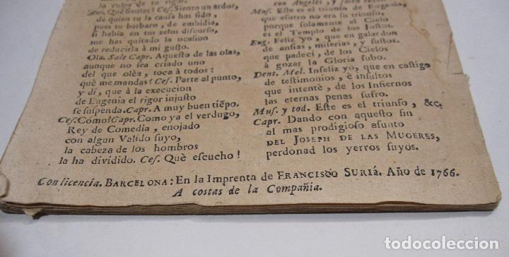 Libros antiguos: COMEDIA FAMOSA. EL JOSEPH DE LAS MUGERES. DE DON PEDRO CALDERÓN DE LA BARCA. BARCELONA, 1766 - Foto 7 - 228535700