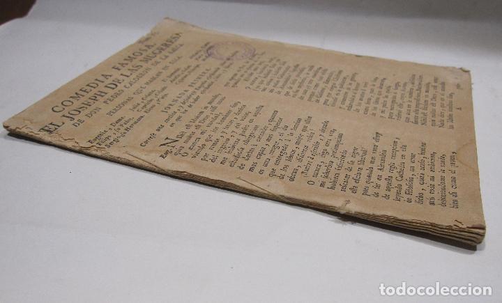 Libros antiguos: COMEDIA FAMOSA. EL JOSEPH DE LAS MUGERES. DE DON PEDRO CALDERÓN DE LA BARCA. BARCELONA, 1766 - Foto 8 - 228535700