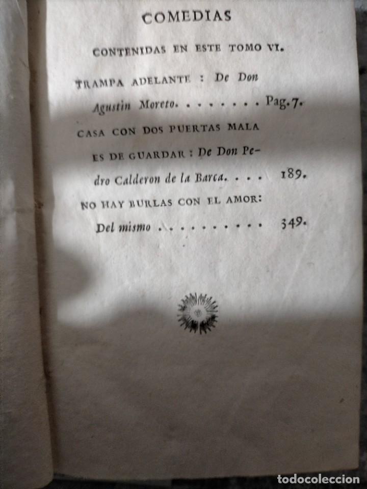 Libros antiguos: THEATRO HESPAÑOL DON VICIENTE GARCIA DE LA HUERTA SEGUNDA COMEDIAS CAPA Y ESPADA CALDERON - Foto 4 - 228761230
