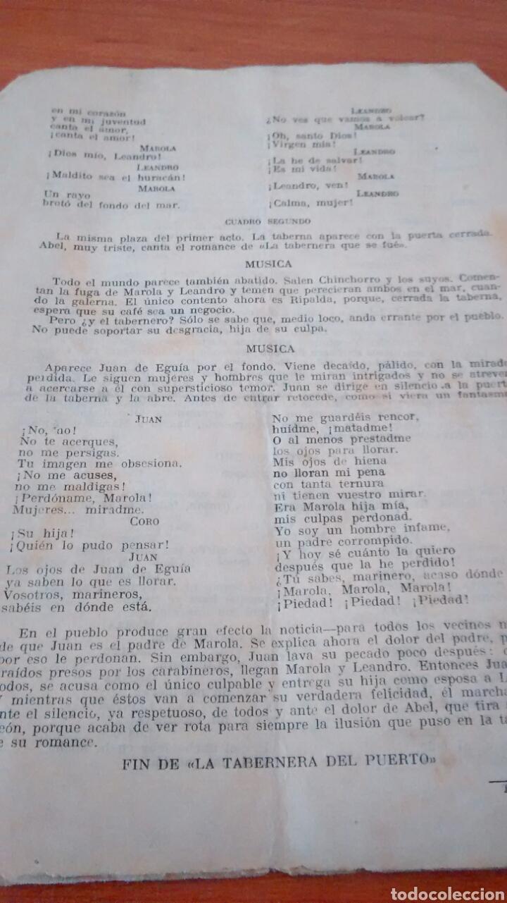 Libros antiguos: GUIA DEL ESPECTADOR-LA TABERNERA DE FEDERICO ROMERO Y G. FERNANDEZ SHAW - Foto 2 - 228858060
