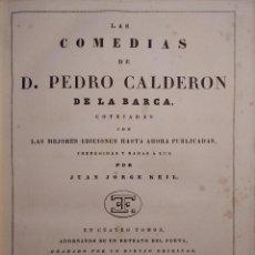 Libros antiguos: LAS COMEDIAS DE D.PEDRO CALDERÓN DE LA BARCA. - CALDERÓN DE LA BARCA PEDRO. Lote 229553405