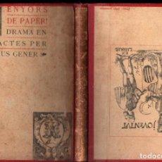 Libros antiguos: POMPEYUS GENER : SENYORS DE PAPER (JOVENTUT, 1901). Lote 229566925
