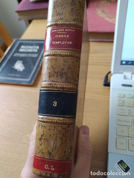 OBRAS COMPLETAS, MANUEL LINARES, TEEATRO, BIBLIOTECA HISPANA, 1915. EN PIEL. (Libros antiguos (hasta 1936), raros y curiosos - Literatura - Teatro)