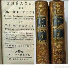 Libros antiguos: AÑO 1785: 2 TOMOS DE TEATRO DEL SIGLO XVIII.. Lote 235430470