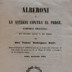 Libros antiguos: ALBERONI, MADRID, 1846. SUPRA-LIBRIS DEL CONDE DE RIUS (TARRAGONA). Lote 235552150