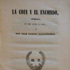Libros antiguos: LA COJA Y EL ENCOJIDO. MADRID, 1843. SUPRA-LIBRIS DEL CONDE DE RIUS (TARRAGONA). Lote 235553780