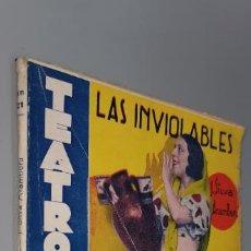 Libros antiguos: TEATRO FRIVOLO. LAS INVIOLABLES. AMPARITO SARA. EDITORIAL CISNE MAYO 1936 NUM. 21. Lote 238118380