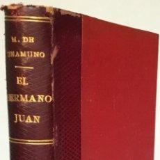 Libros antiguos: EL HERMANO JUAN O EL MUNDO ES TEATRO, VIEJA COMEDIA NUEVA. - UNAMUNO, MIGUEL DE.. Lote 238582035