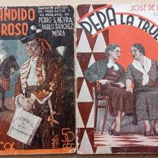 Libros antiguos: LA FARSA NºS 337 Y 429 - 1934 Y 1935 . EL BANDIDO GENEROSO - PEPA LA TRUENO. Lote 239972140