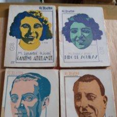 Libros antiguos: LOTE O SUELTOS - EL TEATRO MODERNO - MANUEL LINARES RIVAS - 70 119,176, 189, 208, 229, 254. Lote 242833245