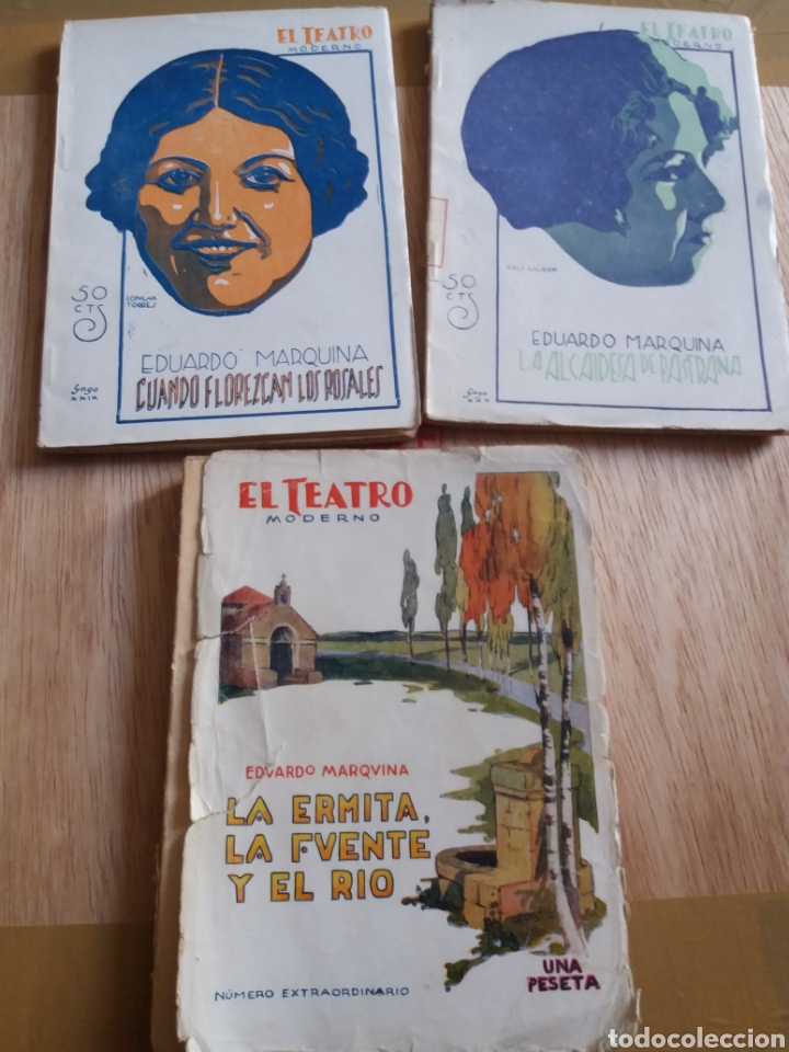 LOTE O SUELTOS - EL TEATRO MODERNO - EDUARDO MARQUINA - 200,225, 235 (Libros antiguos (hasta 1936), raros y curiosos - Literatura - Teatro)