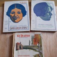 Libros antiguos: LOTE O SUELTOS - EL TEATRO MODERNO - EDUARDO MARQUINA - 200,225, 235. Lote 242833485