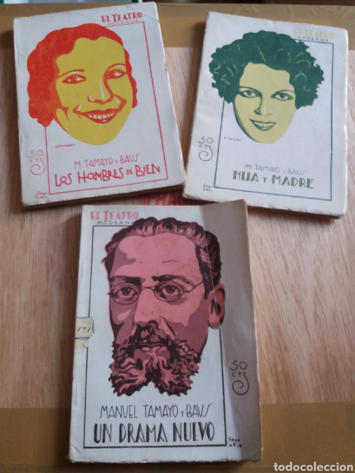 LOTE O SUELTOS - EL TEATRO MODERNO - TAMAYO Y BAUS - 217, 288, 319 (Libros antiguos (hasta 1936), raros y curiosos - Literatura - Teatro)