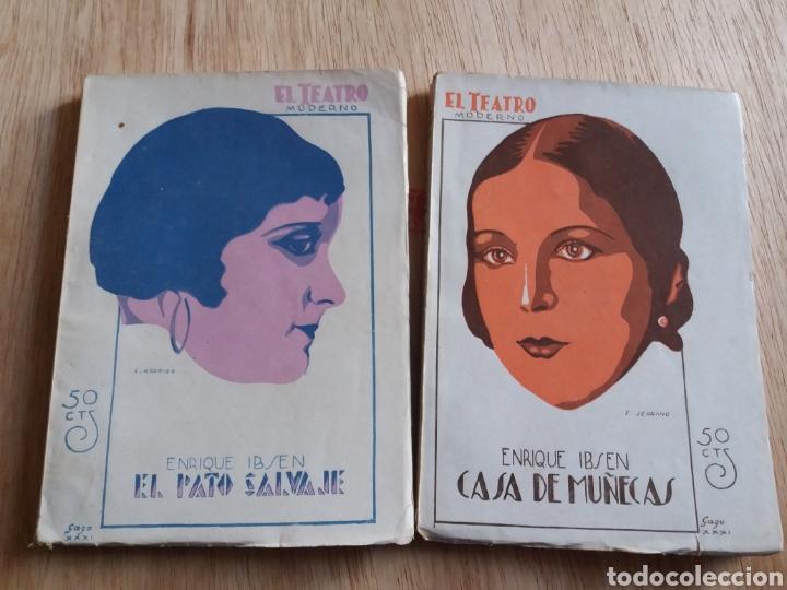 LOTE O SUELTOS - EL TEATRO MODERNO - ENRIQUE IBSEN - 301. 321 (Libros antiguos (hasta 1936), raros y curiosos - Literatura - Teatro)
