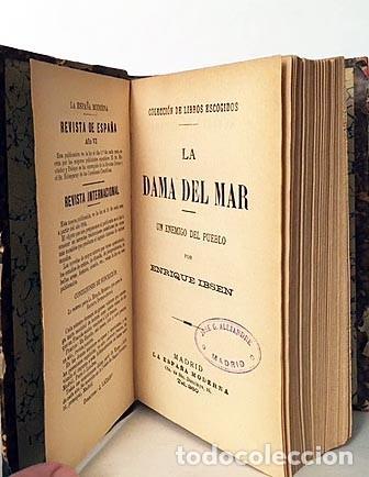 Libros antiguos: Ibsen : La dama del mar / Un enemigo del pueblo. (1ª ed., 1894) 2 obras. Holandesa época - Foto 2 - 243593905
