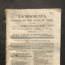 Libros antiguos: 1817 - LA MOJIGATA - INARCO CELENIO - COMEDIA FAMOSA - LEANDRO FERNANDEZ DE MORATIN. Lote 243870640