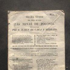 Libros antiguos: 1818 - LAS MINAS DE POLONIA - MARIA DE GASCA Y MEDRANO. Lote 243872460