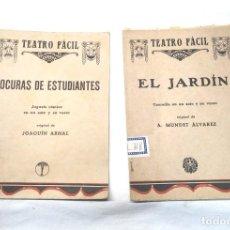 Livros antigos: TEATRO FACIL LOCURAS DE ESTUDIANTES DE ARNAL Y EL JARDIN DE MUNDET. Lote 244821895