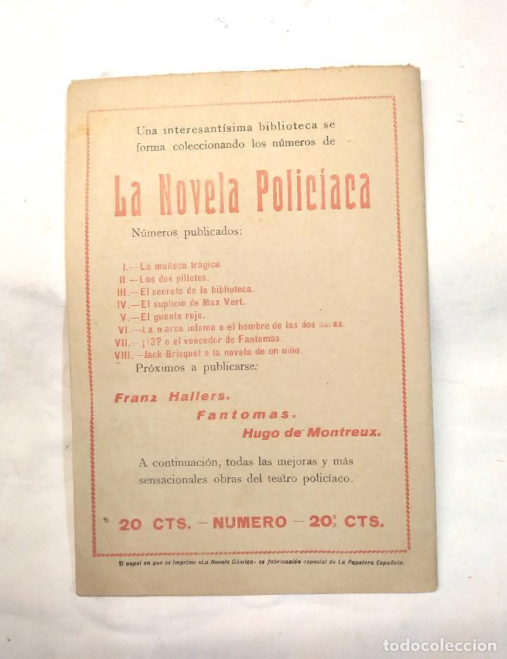 Libros antiguos: Jack Brisquet o la Novela de un Niño La Novela Policíaca nº 101 año 1918 - Foto 2 - 244827950