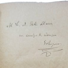 Livros antigos: AUTOGRAFO CON DEDICATORIA Y FIRMA DE JOSE ECHEGARAY: MARIANA, DRAMA EN TRES ACTOS, 1893,. Lote 244831390