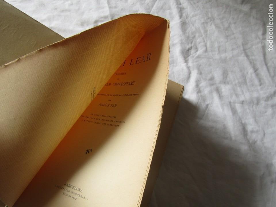 Libros antiguos: Lo rei Lear, Tragedia de Guillem Shakspeare, traduccion al catalán de Anfós Par 1912, intonso - Foto 6 - 244832775