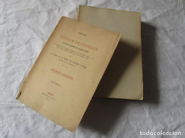 Libros antiguos: Poemas y sonetos William Shakspeare 1877, Trad. Matias de Velasco y Rojas - Foto 3 - 244836635
