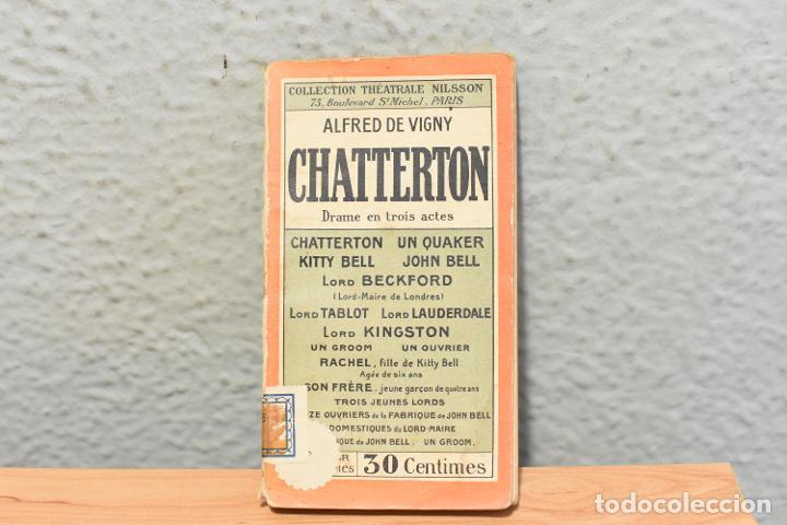 CHATTERTON-ALFRED DE VIGNY-COLECTION THÉATRALE NILSSON -AÑOS 30- EN INGLÉS (Libros antiguos (hasta 1936), raros y curiosos - Literatura - Teatro)