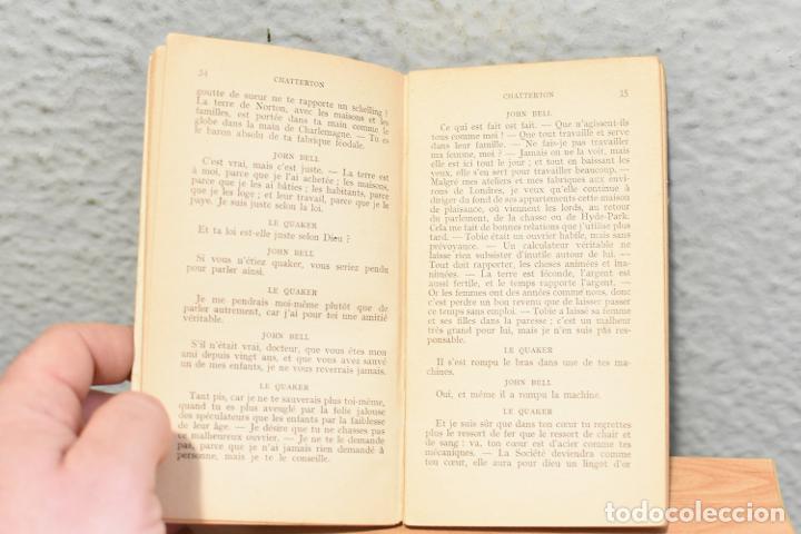 Libros antiguos: CHATTERTON-ALFRED DE VIGNY-COLECTION THÉATRALE NILSSON -años 30- en Inglés - Foto 2 - 244842495