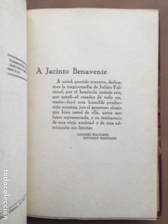 Libros antiguos: Antonio y Manuel MACHADO DESDICHAS DE LA FORTUNA o Julianillo Valcarcel 1ª Primera Edición 1926 - Foto 3 - 244871095