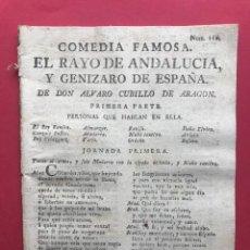 Libros antiguos: XVIII - EL RAYO DE ANDALUCIA Y GENIZARO DE ESPAÑA - ALVARO CUBILLO DE ARAGON - COMEDIA FAMOSA. Lote 246495550