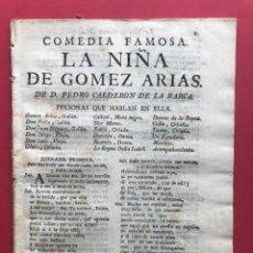 Libros antiguos: 1765 - LA NIÑA DE GOMEZ ARIAS - PEDRO CALDERON DE LA BARCA. Lote 246504260