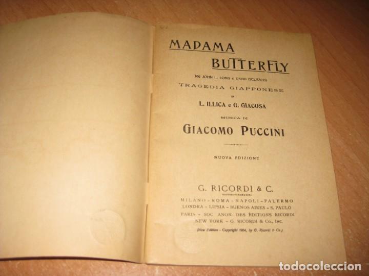 Libros antiguos: MADAMA BUTTERFLY - Foto 3 - 201154126