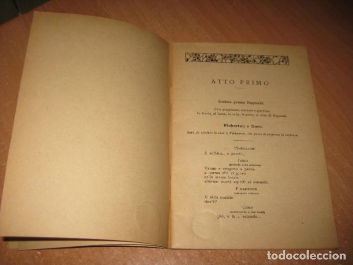 Libros antiguos: MADAMA BUTTERFLY - Foto 5 - 201154126