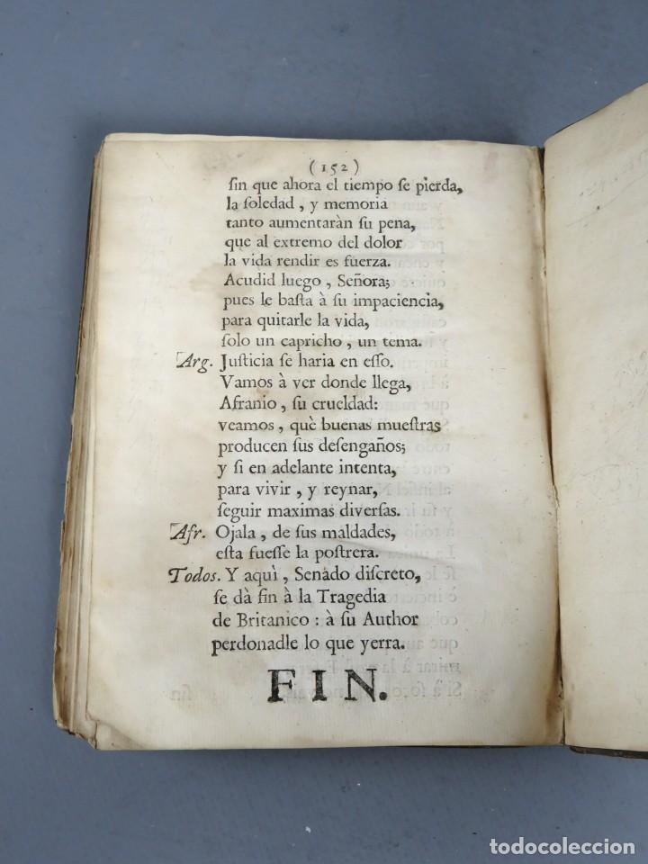Libros antiguos: BRITANICO - TRAGEDIA - JUAN RACINE - ZARAGOZA 1764 - Foto 7 - 250227790
