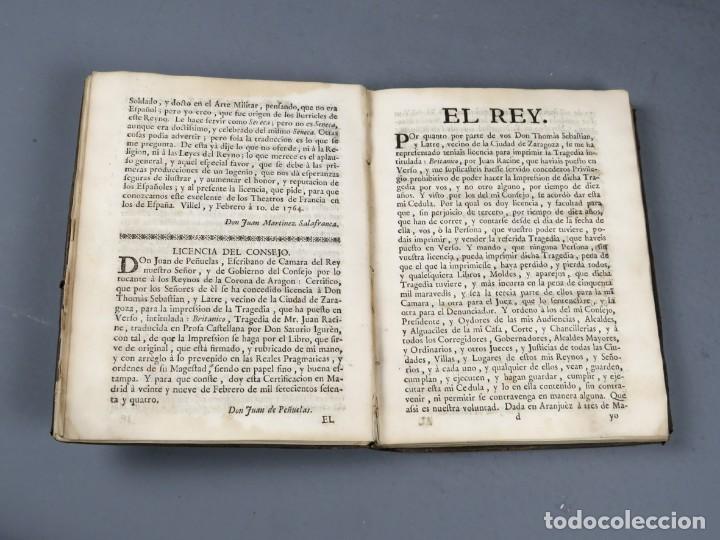 Libros antiguos: BRITANICO - TRAGEDIA - JUAN RACINE - ZARAGOZA 1764 - Foto 10 - 250227790