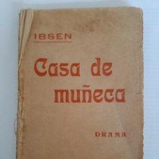 Libros antiguos: IBSEN. CASA DE MUÑECA. BARCELONA. 1916. TRAD. DE ANTONIO VILASALBA.. Lote 251099615