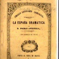 Libros antiguos: MANUEL FERNÁNDEZ Y GONZÁLEZ : CID RODRIGO DE VIVAR (CRISTÓBAL GONZÁLEZ, 1858) DRAMA EN VERSO. Lote 252450690